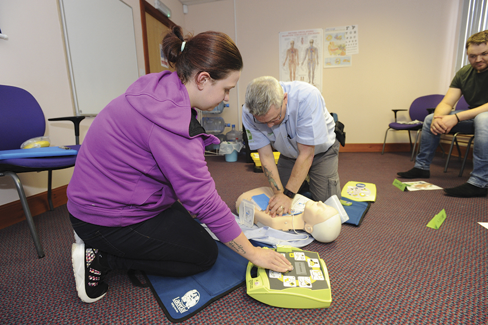 First Aid Training supported by Enterprising Bathgate